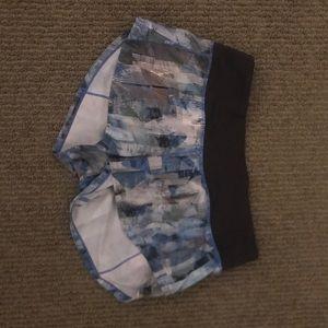 Blue design lulu lemon speed up shorts 2.5